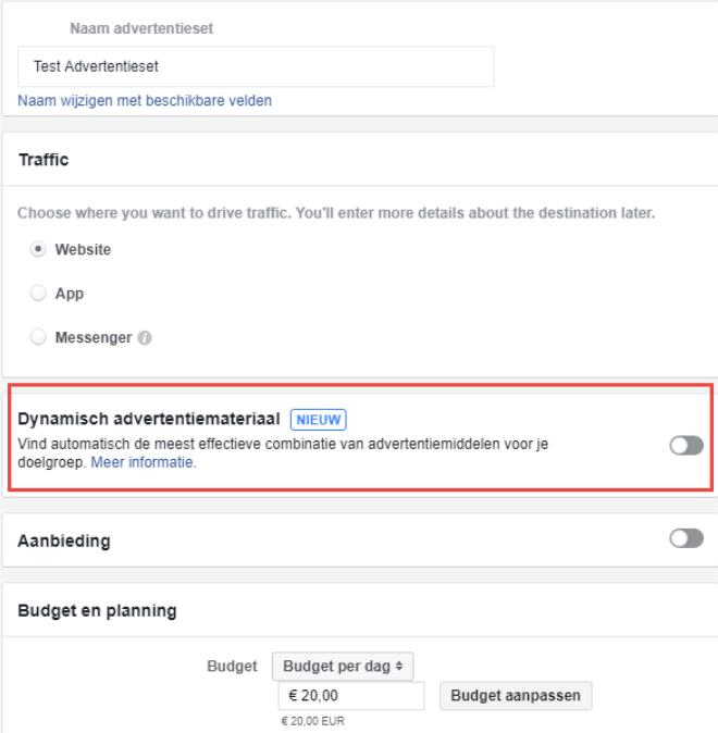 Nieuw: dynamische Facebook advertenties