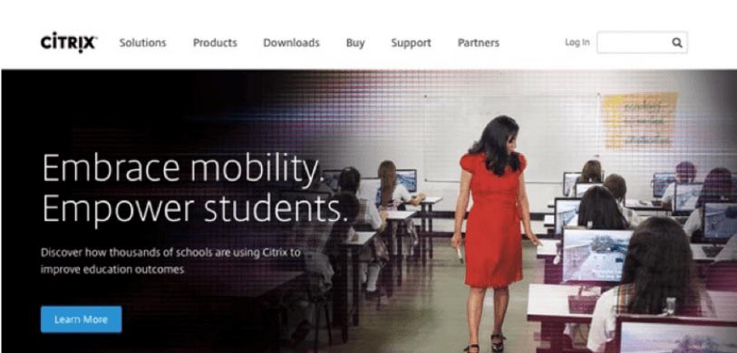 Onderwijssector homepage citrix