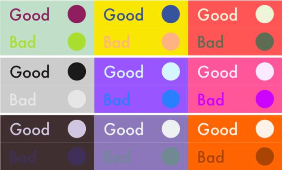 Voorbeelden WCAG 2.0 richtlijnen voor visueel beperkten: kleurgebruik