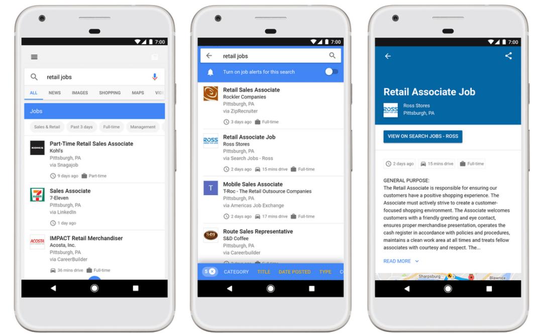 Vacatures in de zoekresultaten met Google for Jobs