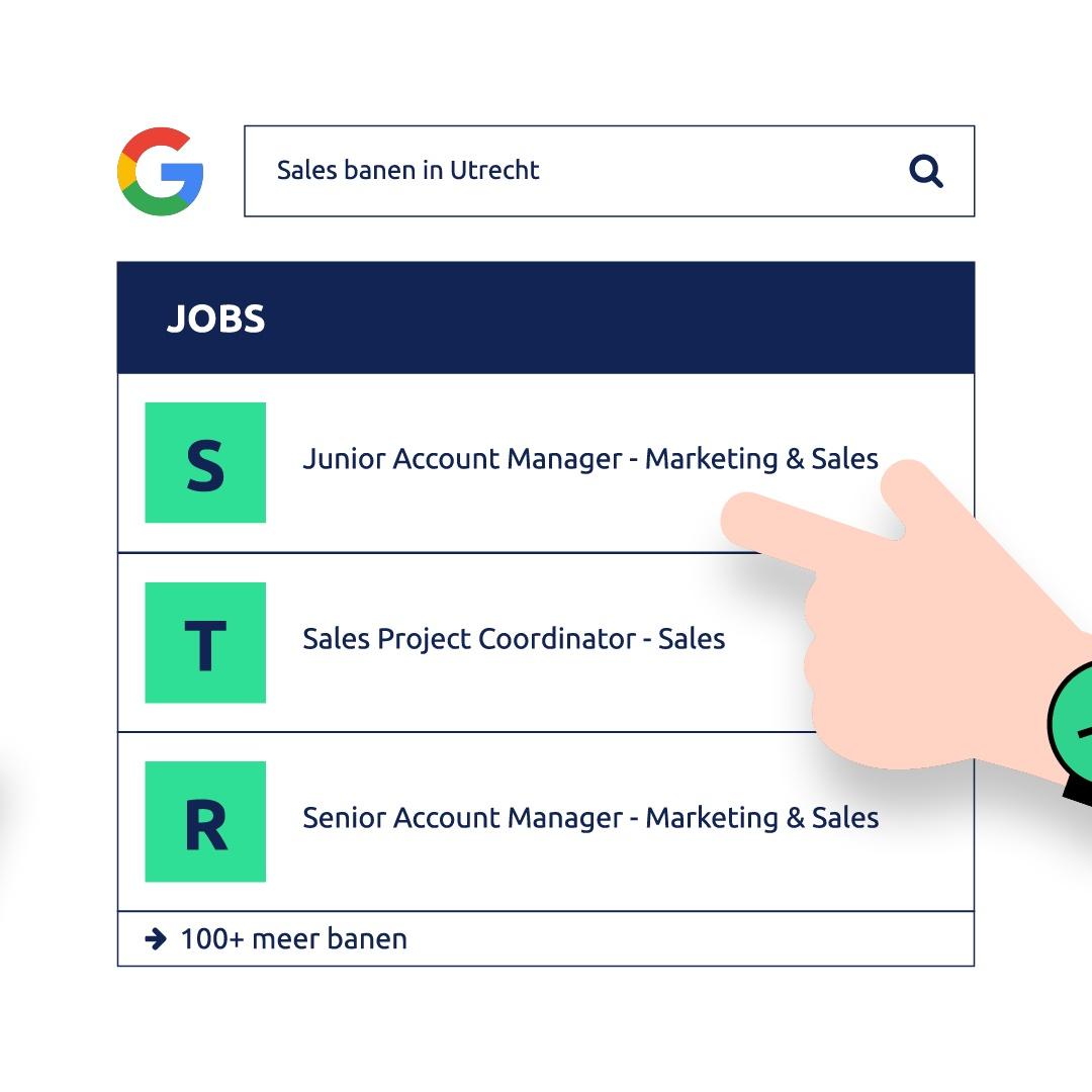Google for Jobs nu ook in Nederland