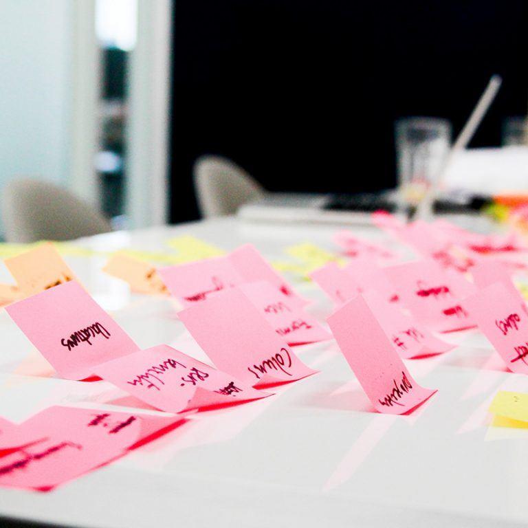Brainstormsessie over een WordPress wedesign op ons kantoor te Utrecht