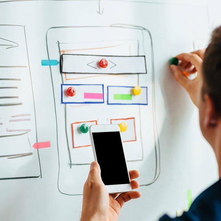 Het ontwerpen van wireframes voor een WordPress webdesign