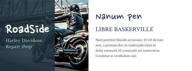 Slechte lettertype combinatie van de Nanum Pen en de Libre Baskerville