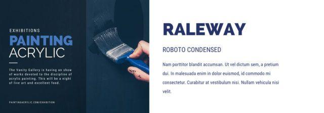lettertype combinatie Raleway en Roboto condensed