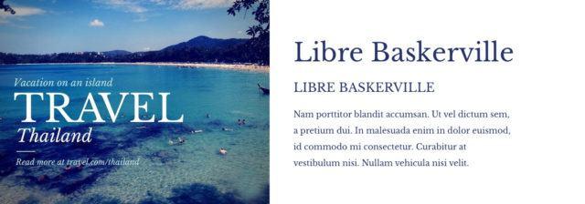 lettertype combinatie Libre Baskerville en Libre Baskerville