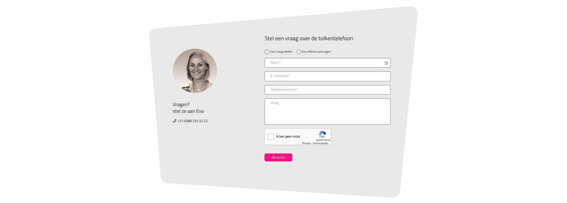TVcN screenshot 3 - formulier met medewerker