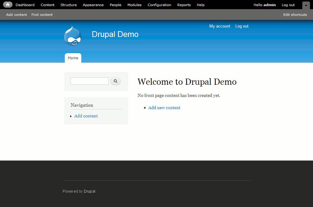 Drupal backend