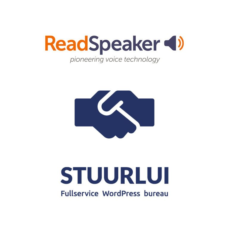 Partnerschap tussen Readspeaker en Stuurlui om ze nog betere toegankelijke websites op te kunnen leveren