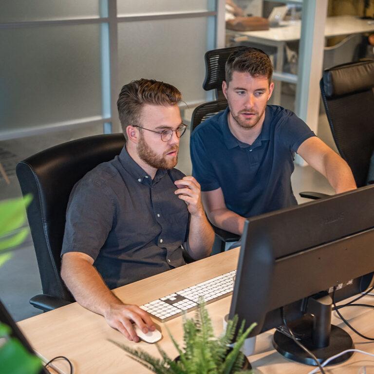 WordPress developers aan het werk bij het realiseren van het WordPress webdesign