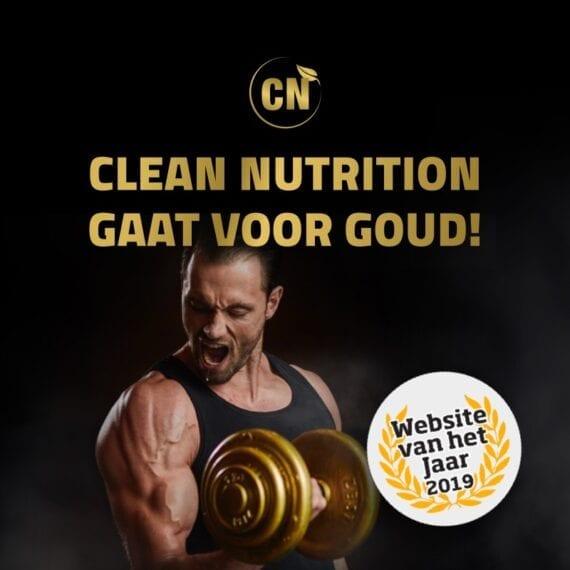 Clean Nutrition genomineerd voor Website van het Jaar 2019