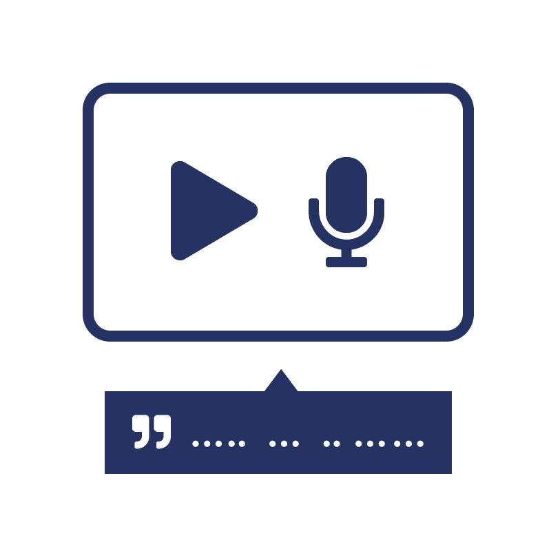 1.2.1 Geef eerder opgenomen audio en video een tekstuele beschrijving