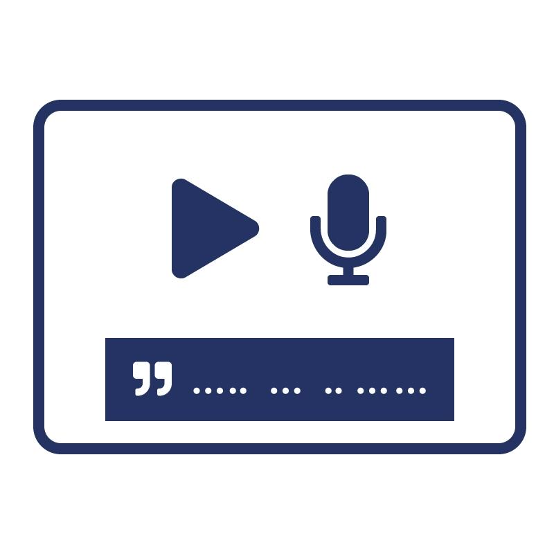 1.2.2 Geef eerder opgenomen audio en video een ondertiteling