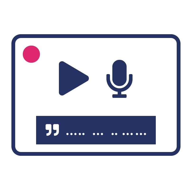 1.2.4 Geef live audio en video een ondertiteling