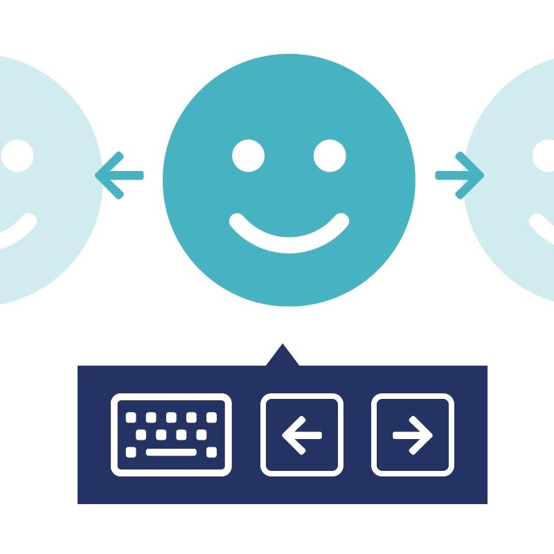 2.5.1 Zorg dat bezoekers alternatieve middelen kunnen gebruiken om de inhoud te bedienen