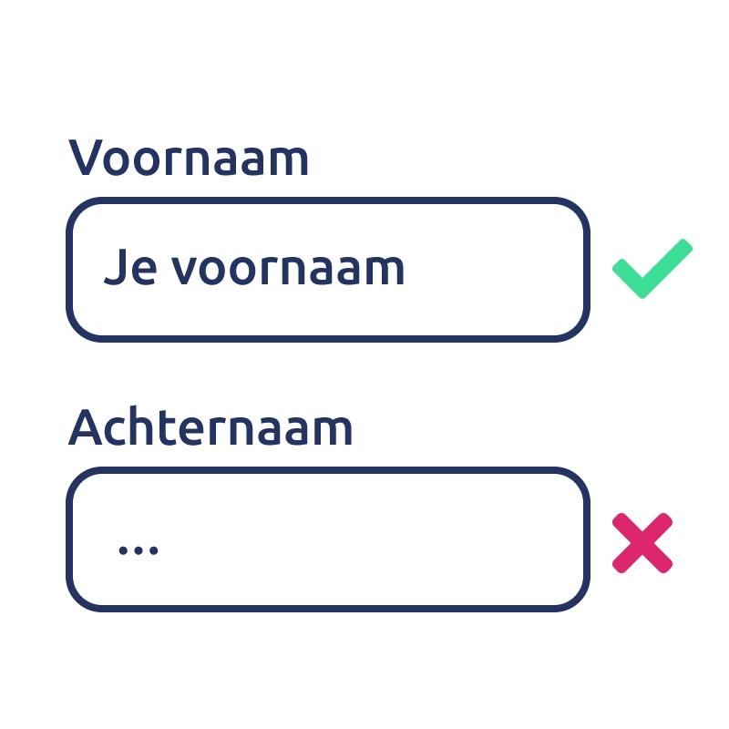 Gebruik duidelijke namen voor labels