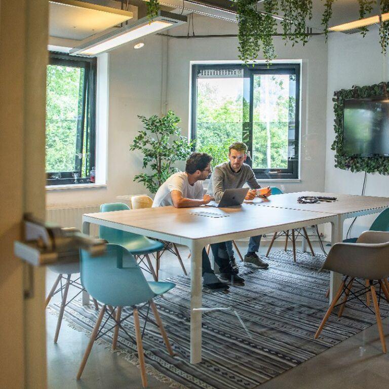 Overleg om samen tot een mooi webdesign te komen op ons kantoor te Utrecht