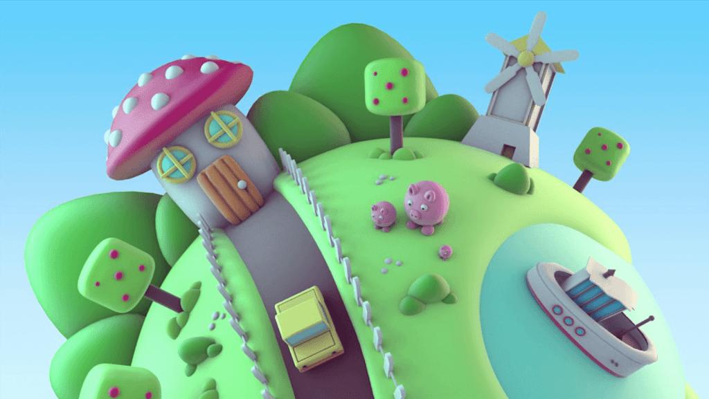 Voorbeeld Clay 3D animatie