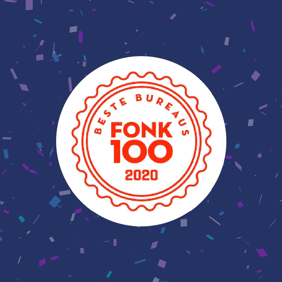 Stuurlui staat in de FONK100 beste bureaus van Nederland!