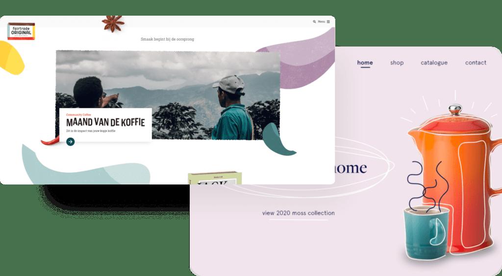 Toffe voorbeelden van webdesign trends in 2021