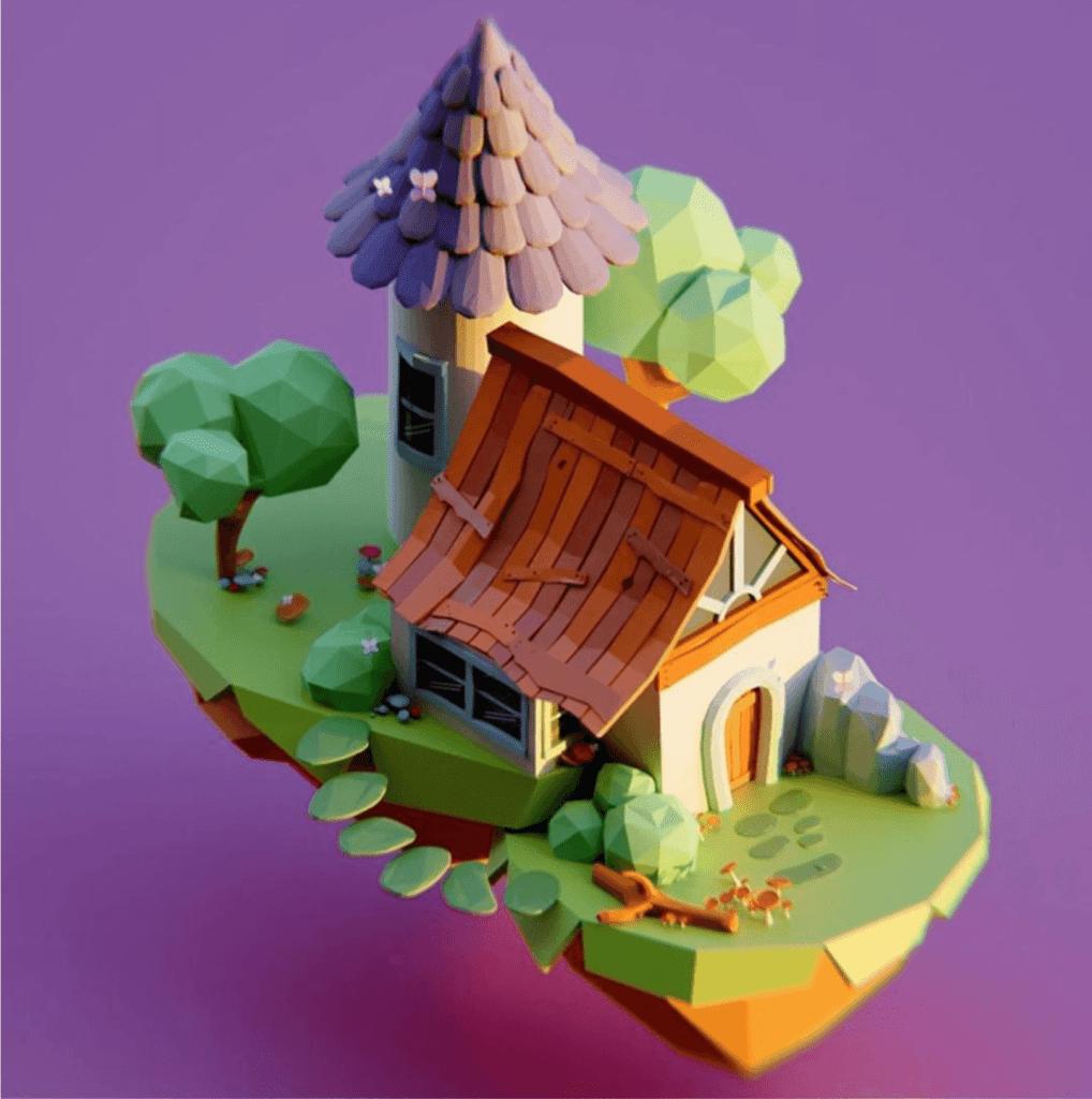 Voorbeeld van Polygoon 3D vormen