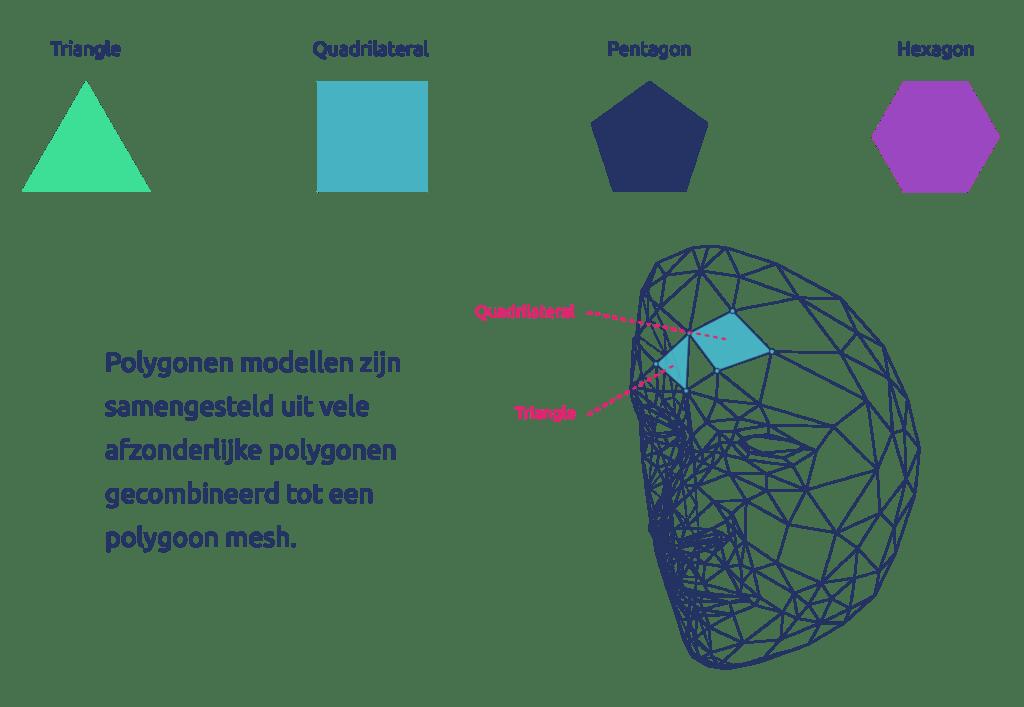 Vormen van polygonen modellen