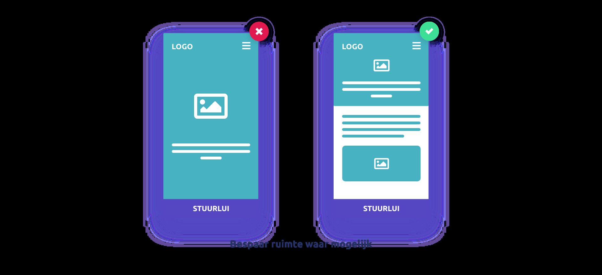 Mobile first webdesign – Bespaar ruimte waar mogelijk