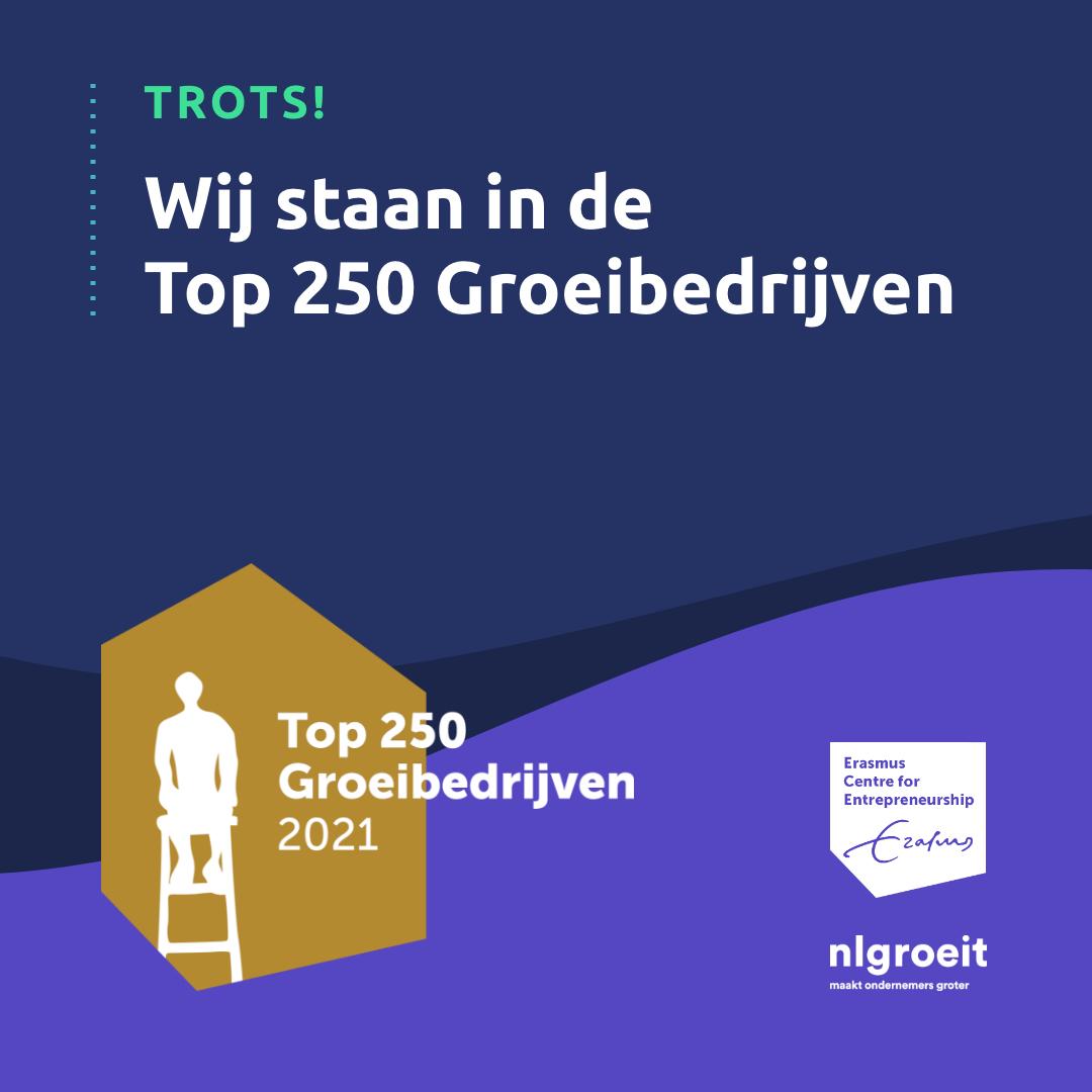 Stuurlui behoort tot de Top 250 Groeibedrijven van Nederland