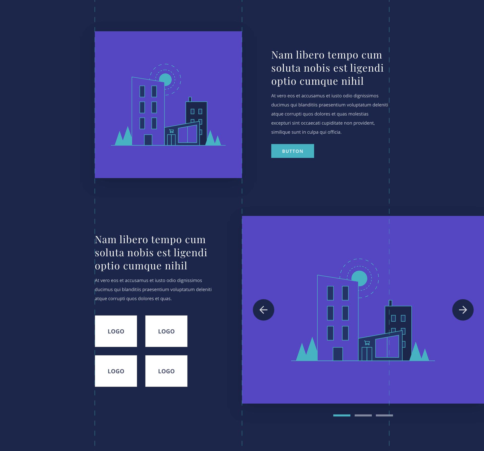 Webdesign trend 3: Een voorbeeld van één blok in twee verschillende varianten