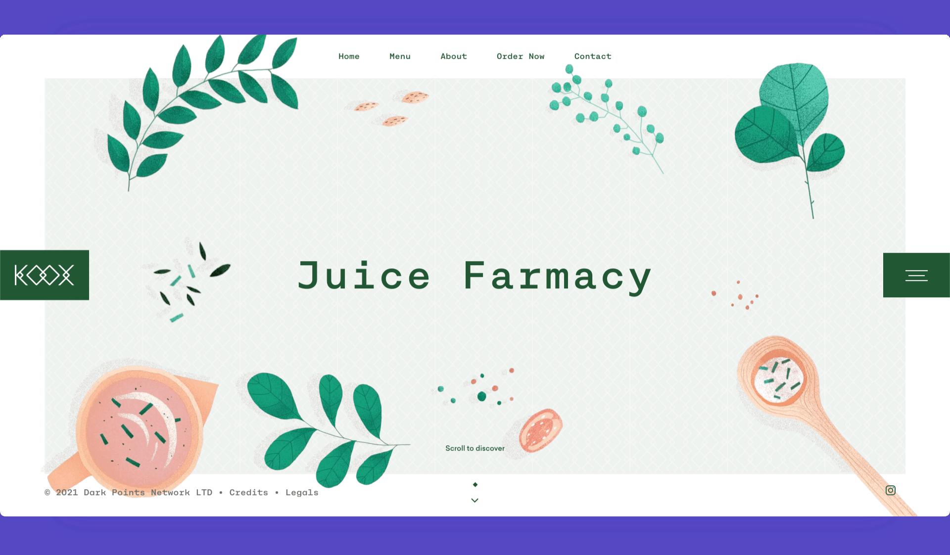Een voorbeeld van een website die gebruik maakt van parallax lagen.